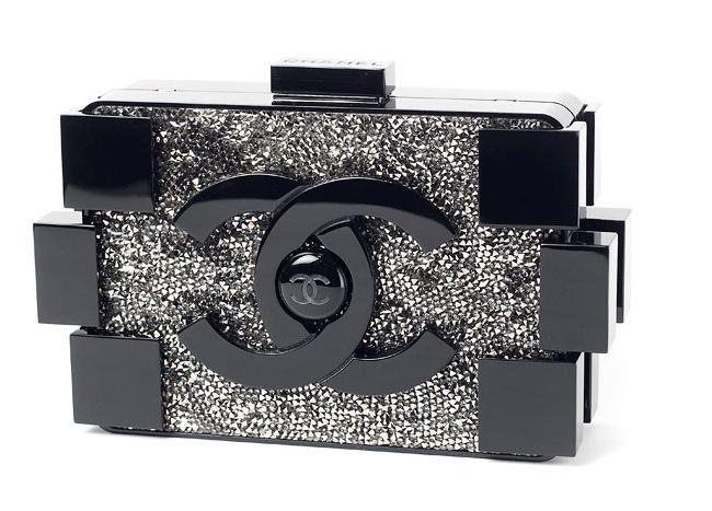 Chanel-BlackCrystals-Lego-Clutch-Bag