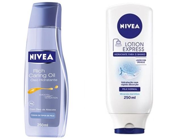 rich caring oil e lotion express nivea