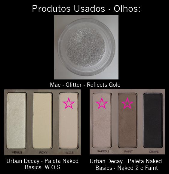 Make ano novo glitter-produtos