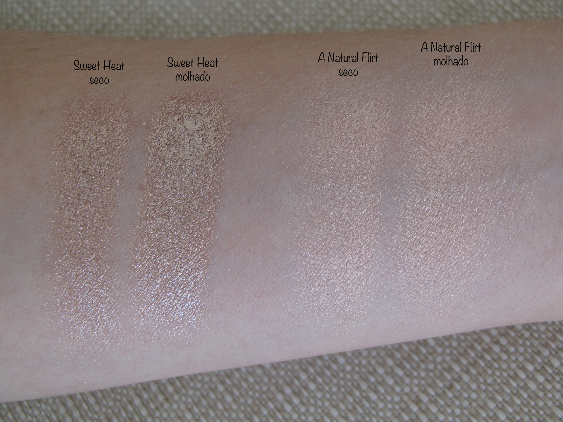 Sweet Heat e A Natural Flirt - Swatch