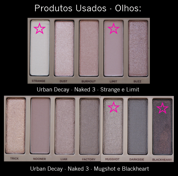 2º Make Naked 3 - Produtos usados
