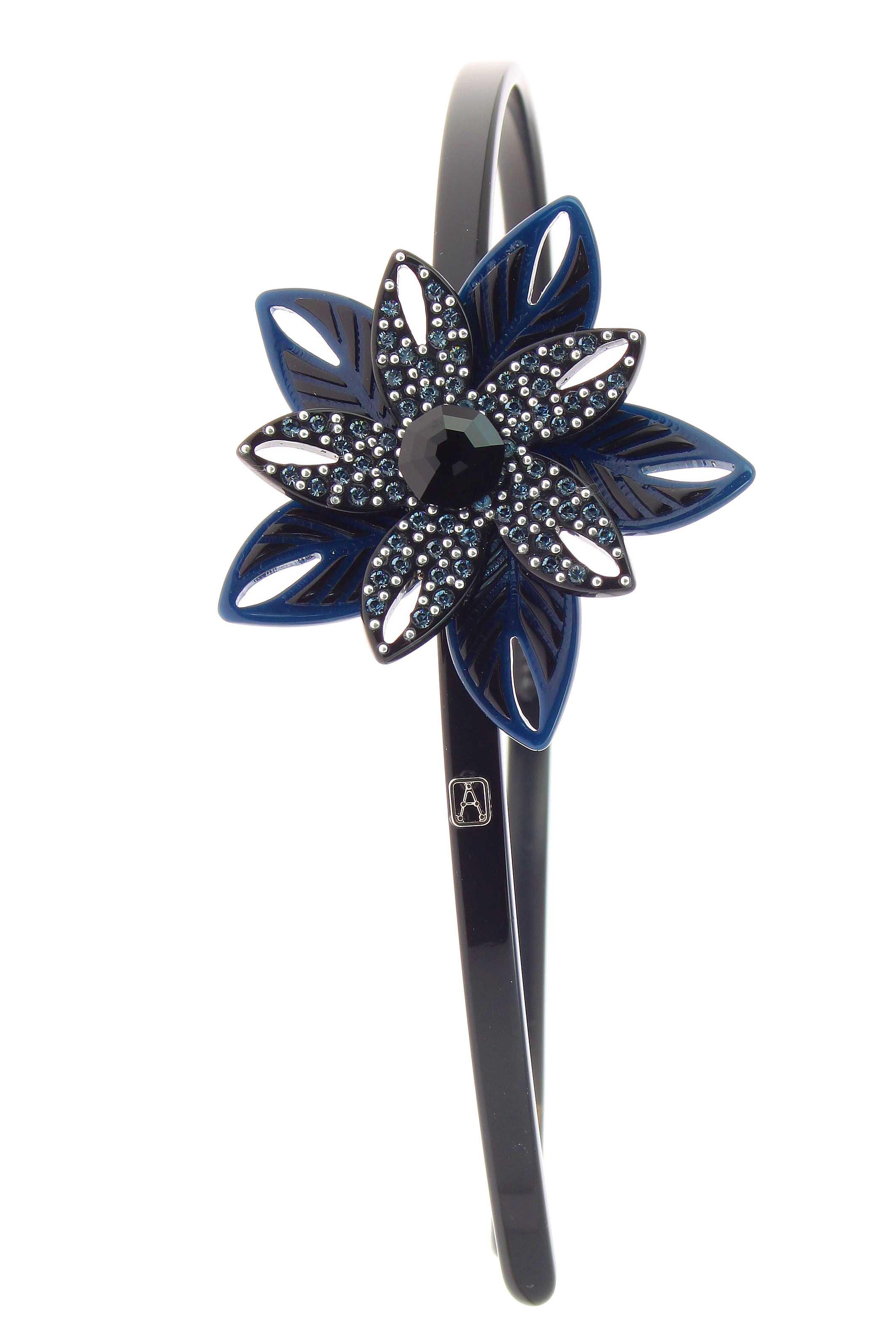 ALEXANDRE DE PARIS AHB-16229-02 Cor Z Azul Marinho TIARA EXOTICA R$ 950,00