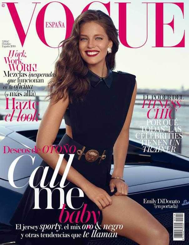 Emily Didonato para Vogue Espanha de Outubro foto: Miguel Reveriego