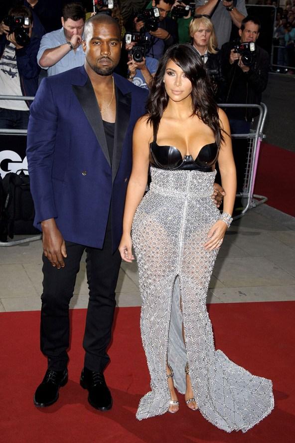 Kanye West e Kim Kardashian foto: vogue