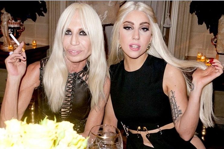 Donatella Versace e Lady Gaga  imagem: reprodução
