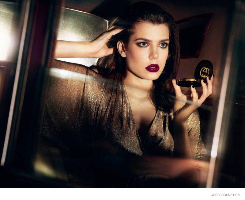 Nova campanha da Gucci cosméticos - Charlote Casiraghi foto - divulgação