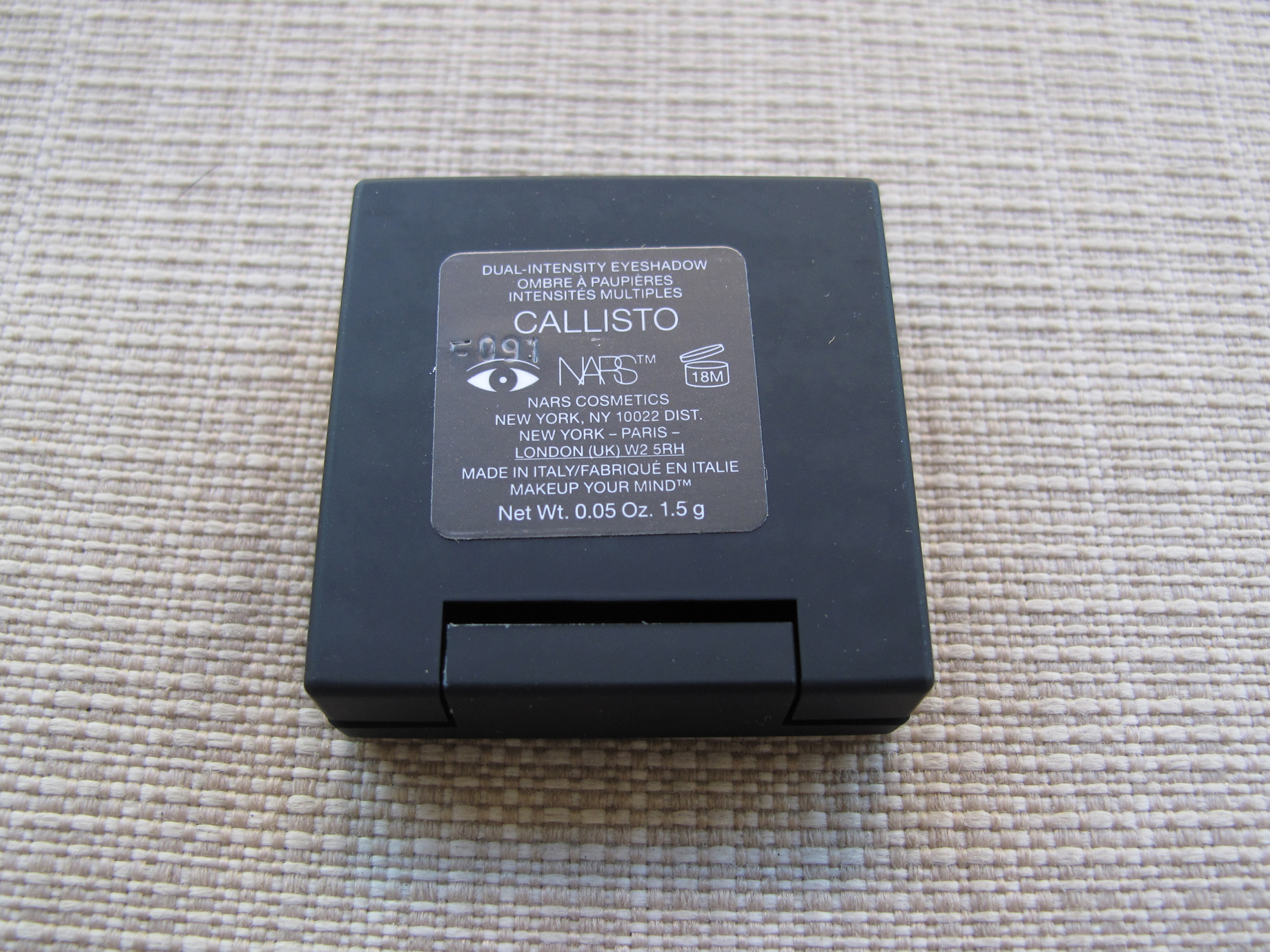 Nars - Sombra Callisto - Rótulo