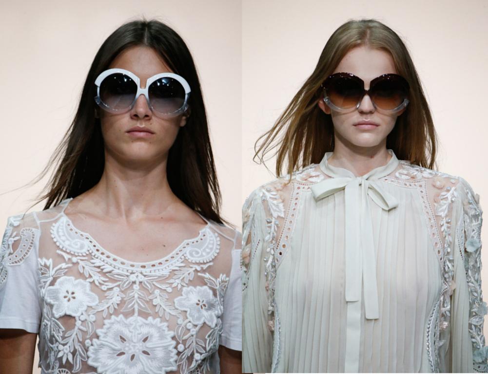 Óculos de Sol do desfile de Roberto Cavalli imagem: reprodução