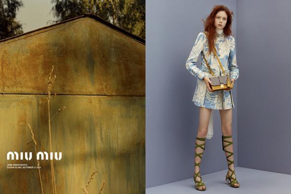 Nova campanha de Miu Miu foto: Jamie Hawkesworth