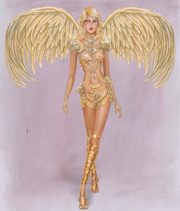 Croqui do Victoria's Secret fashion show 2014