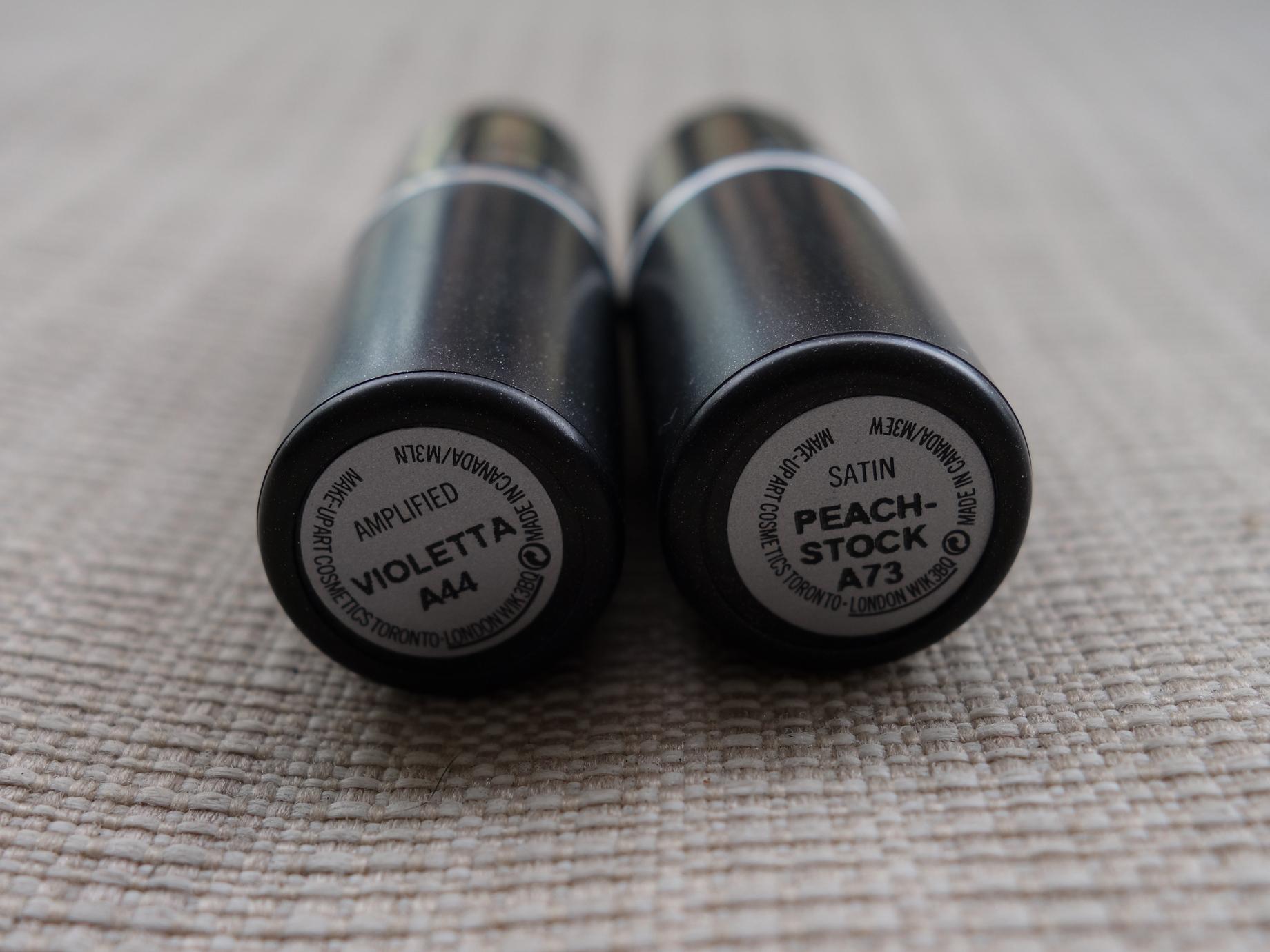 Batons Violetta e Peach-stock - Rótulos