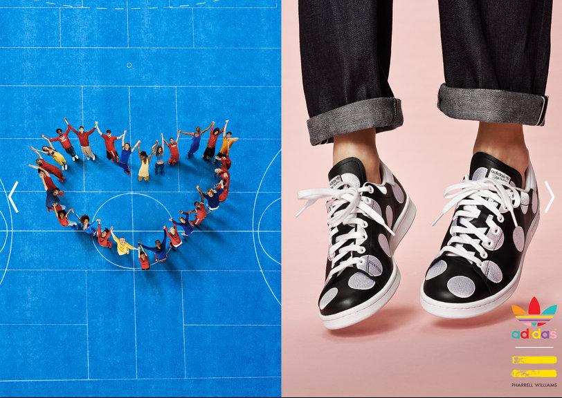 Pharrell Williams para Adidas  imagem: divulgação