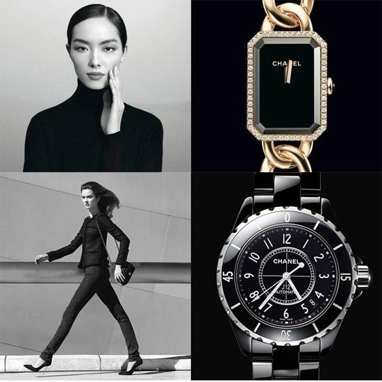 Relógios da coleção L'instant de Chanel imagem: Patrick Demarchelier