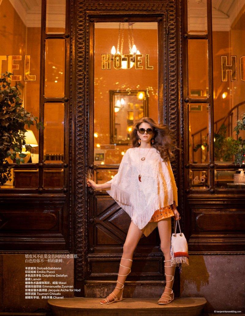 Harper's Bazaar China - Janeiro 2015 foto: Benjamin Kanarek