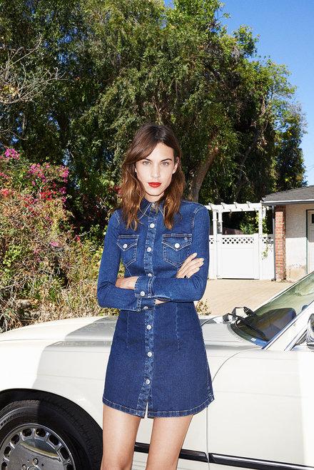 ALEXA CHUNG - campanha da AG jeans imagem: divulgação