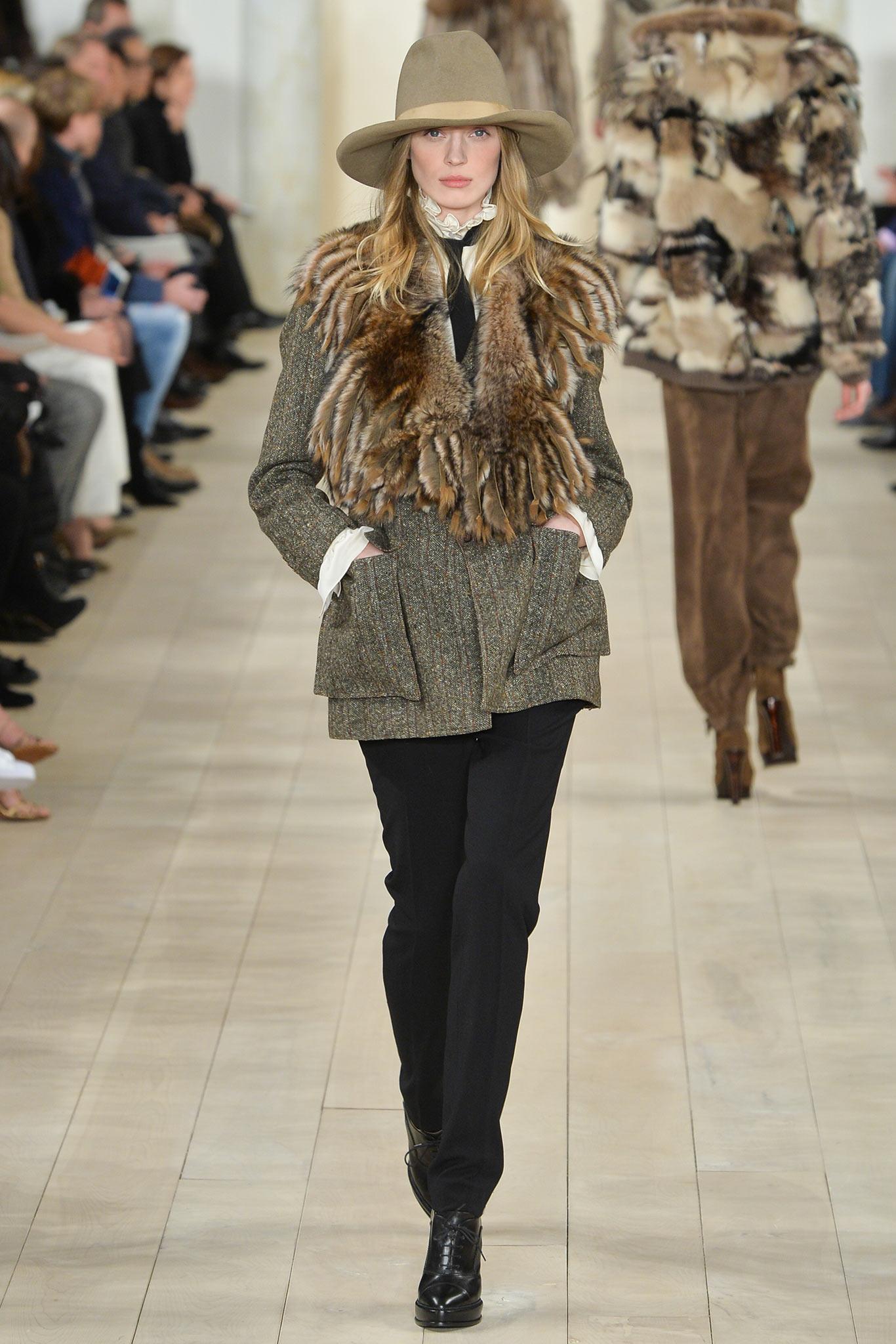 Ralph Lauren  inverno 2015-2016 imagem: via style.com