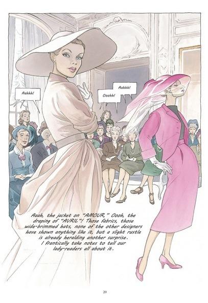 Girl in Dior - quadrinho de Annie Goetzinger imagem: reprodução