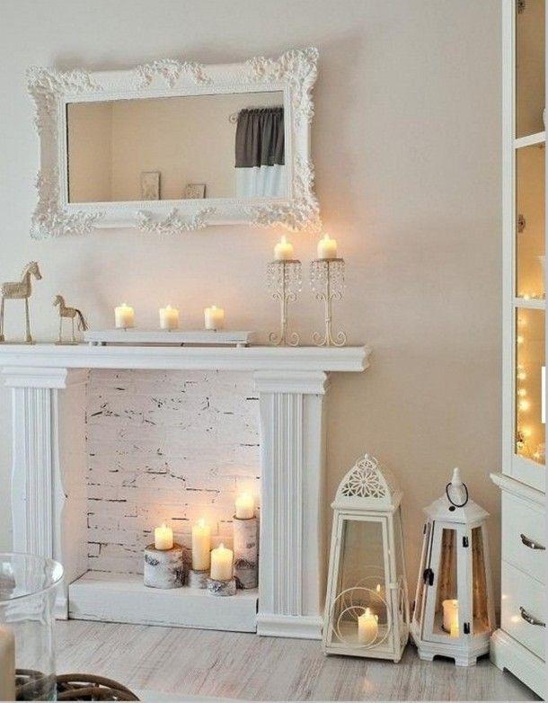 Lareiras - ideias de decoração imagem: via pinterest