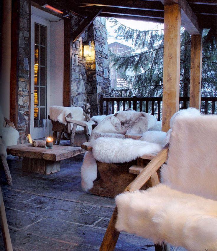 Decoração de inverno - ambientes rústicos imagem: via pinterest