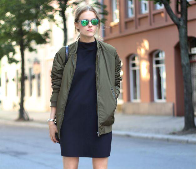 Street style - Bomber Jacket imagem: via pinterest