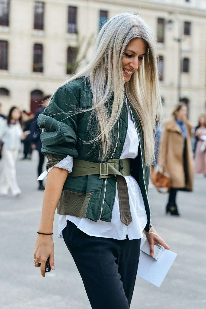 Street style - Bomber Jacket imagem: pinterest