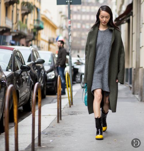 Street style - o verde aparece em muitos looks imagem: via pinterest