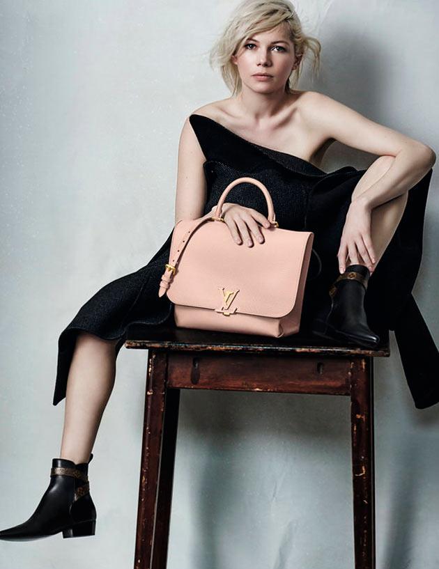 Michelle Williams para a campanha outono-inverno 2015-2016 da Louis Vuitton imagem: divulgação