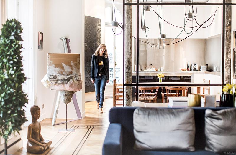 Apartamento de Cecilia Bönström em Paris imagem: via Garance Doré