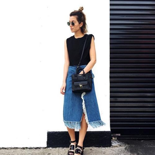 Jeans desfiado imagem: pinterest
