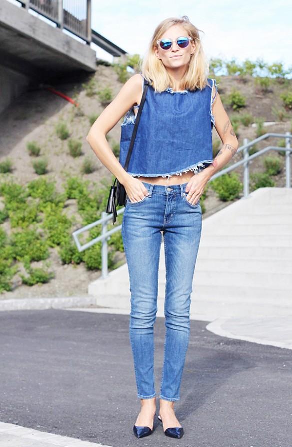 Jeans desfiado imagem: who what wear