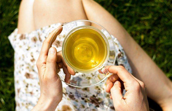 Chá verde é super diurético e ajuda a desinchar imagem: pinterest