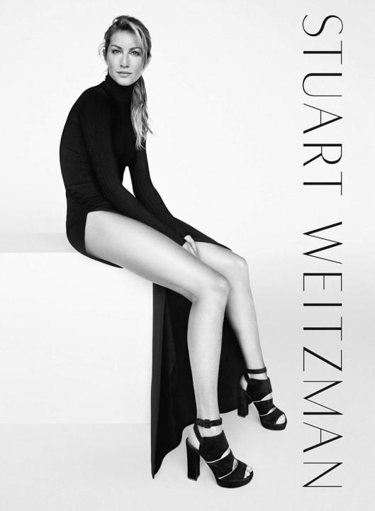 Gisele Bündchen para Stuart Weitzman - coleção inverno 2016