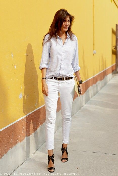 Calça Branca imagem: via pinterest