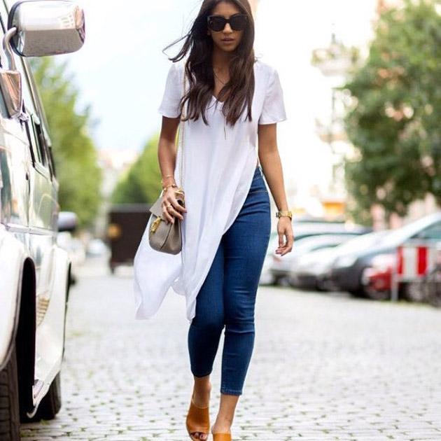 Maxi t-shirt - nova tendência entre as fashionistas imagem: via instagram