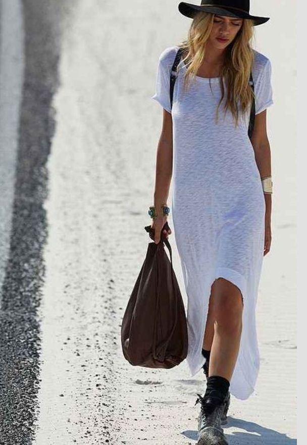 Maxi t-shirt - nova tendência entre as fashionistas imagem: via pinterest