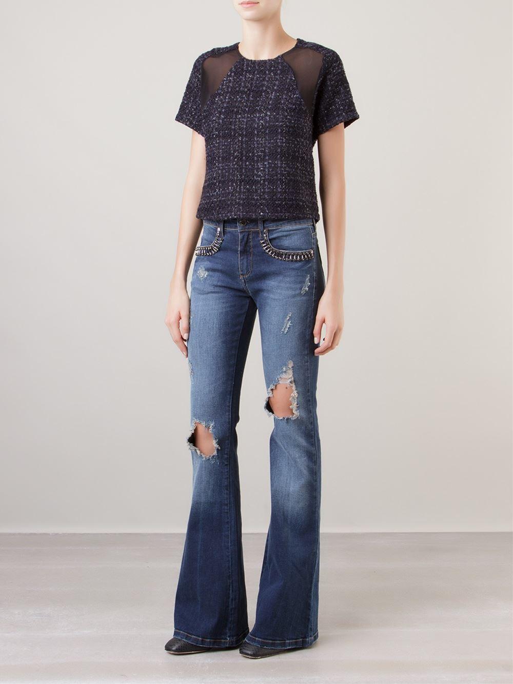 Calça Flare jeans - Carina Duek. Compre AQUI imagem: divulgação / Farfetch