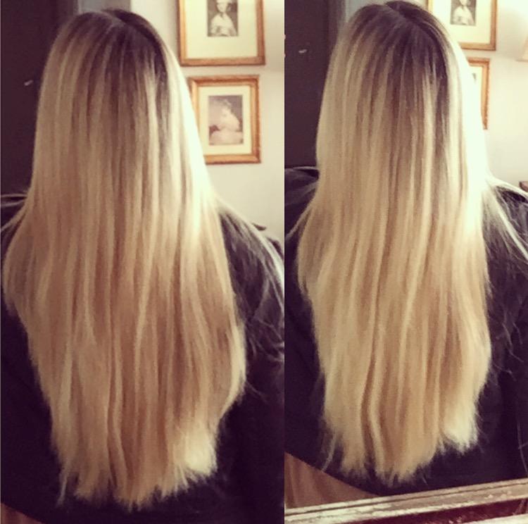 Meus cabelos após a secagem dos fios e o tratamento com a linha Hydra Care Vyzcaya